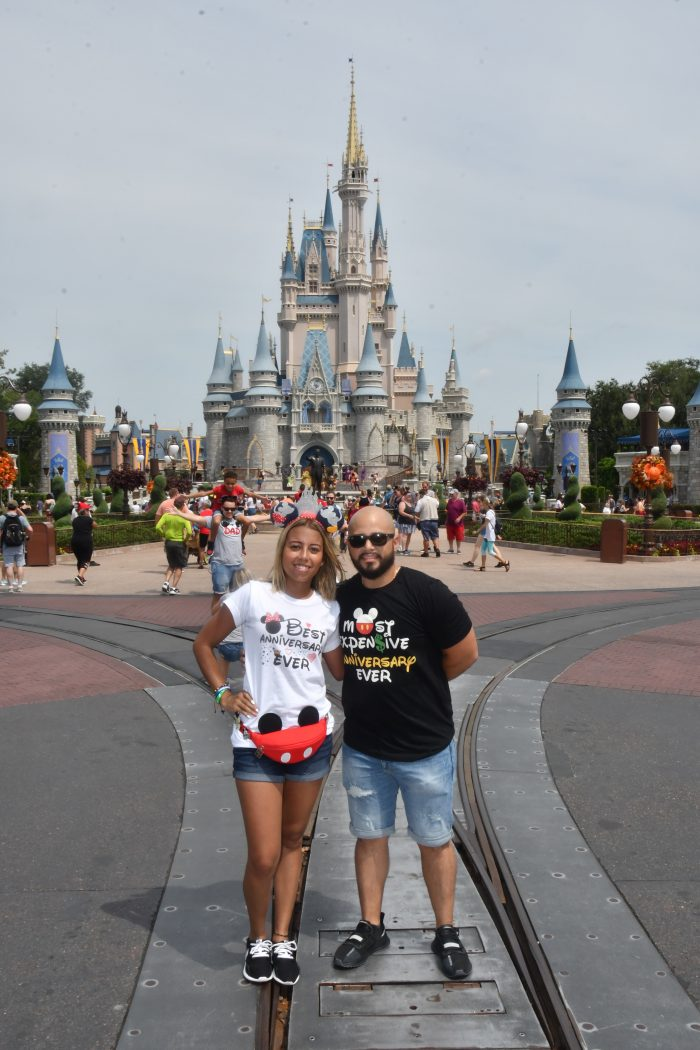 Where to Propose in At Walt Disney World in Magic Kingdom in front of Cinderella's Castle