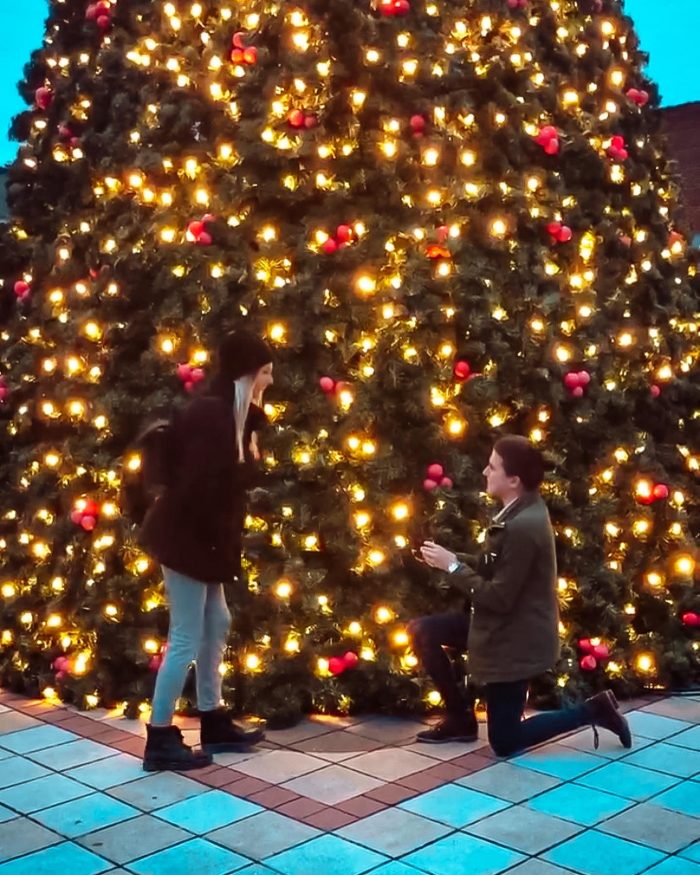 Wedding Proposal Ideas in The Decatur Square in GA