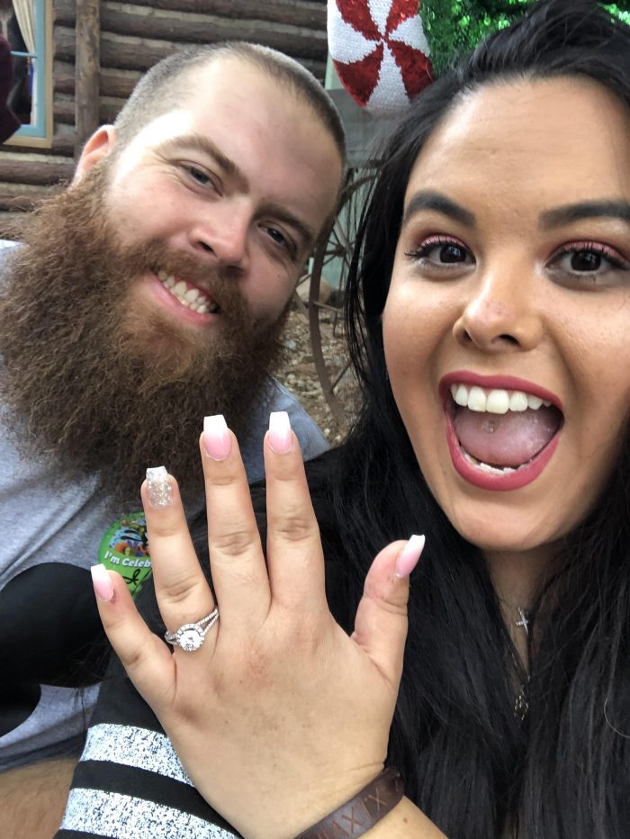 Tinella and Bryce's Engagement in Disneyland