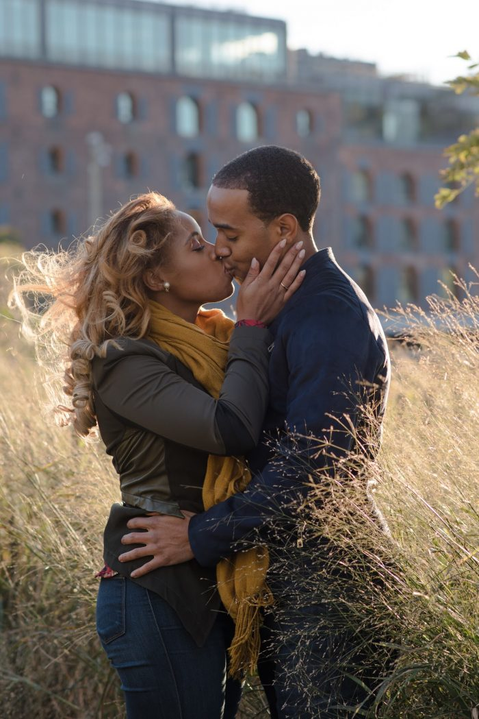 Jewel and Ameer's Engagement in In DC at the Georgetown waterfront during the sunset