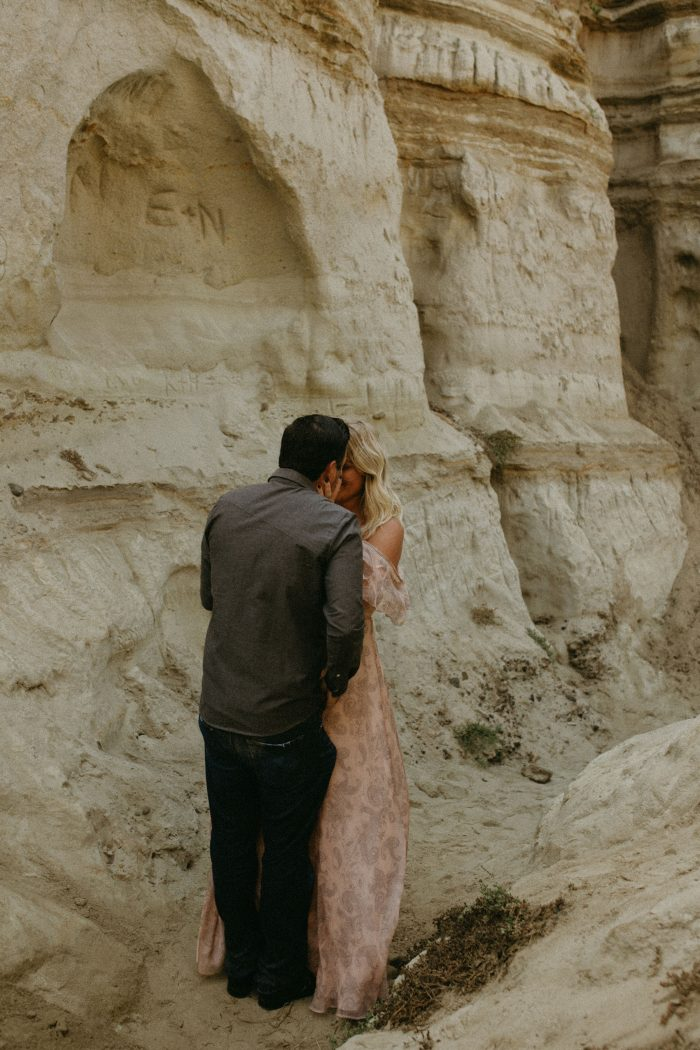 Engagement Proposal Ideas in San Clemente Beach, but back in the rock caves