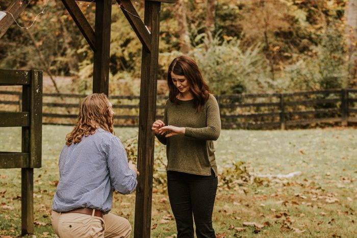 Engagement Proposal Ideas in Stables at strawberry creek in Knoxville Tennessee