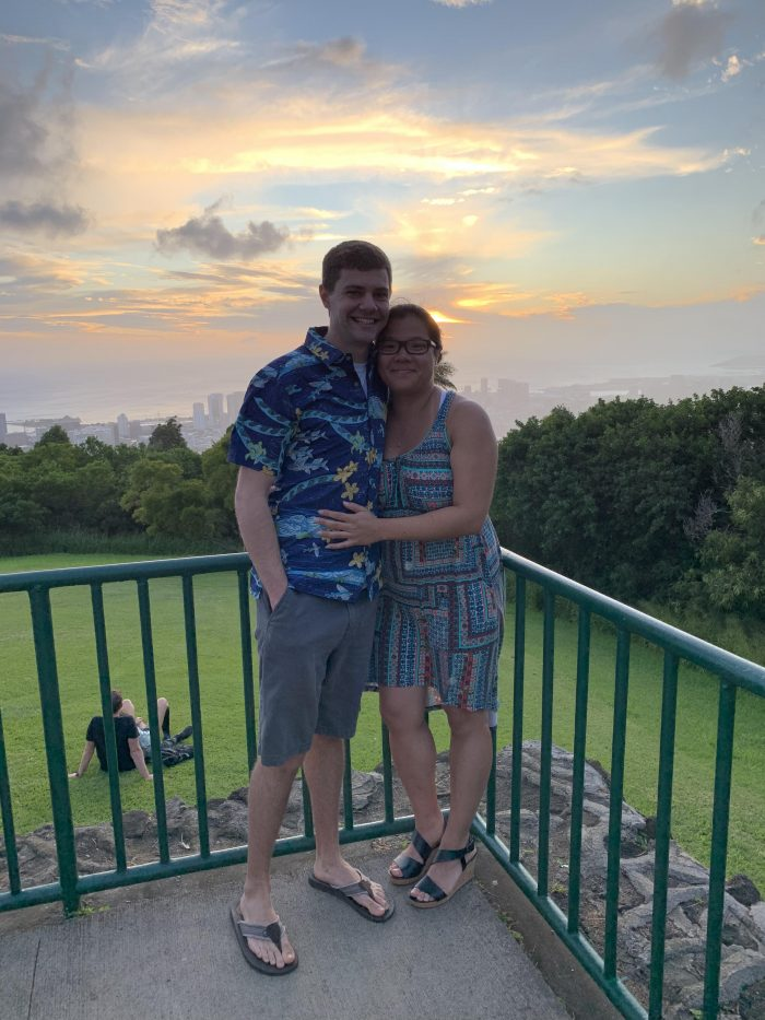 Maddy and Tom's Engagement in Tantalus Lookout, Oahu, Hawai'i