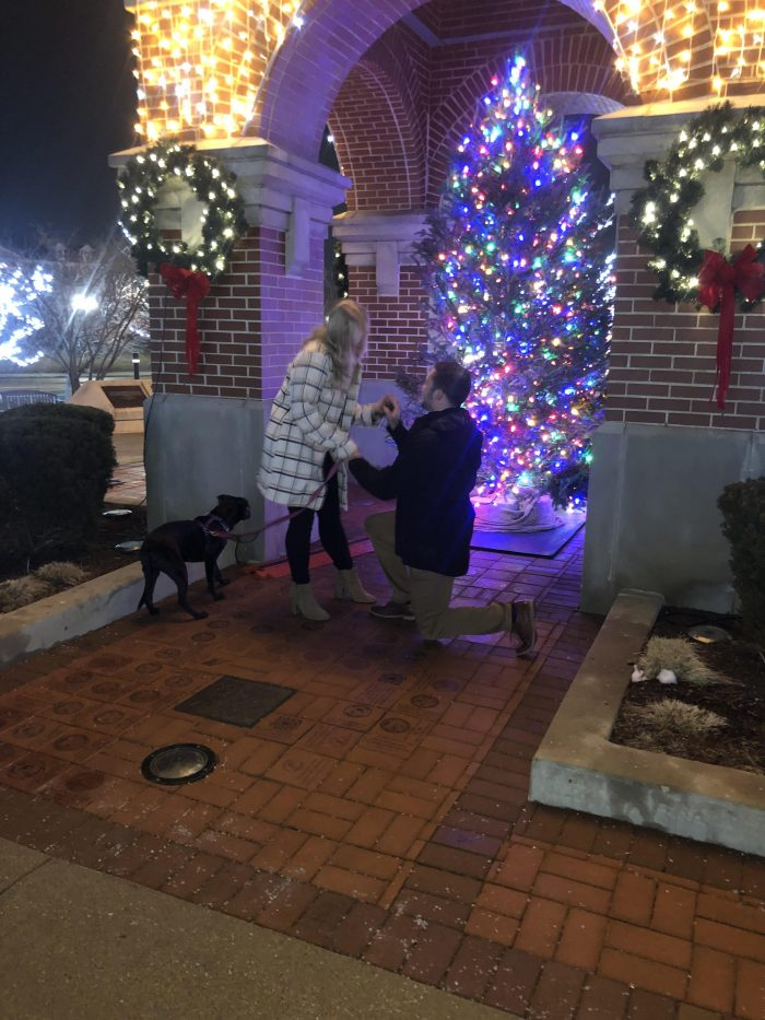 Jenna's Proposal in Schaumburg Town Square