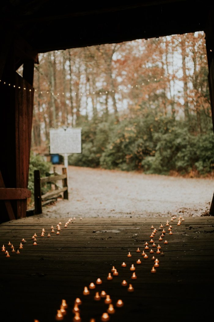Wedding Proposal Ideas in Campbell's Covered Bridge in Inman, SC