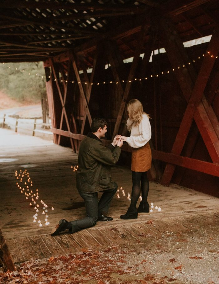 Where to Propose in Campbell's Covered Bridge in Inman, SC
