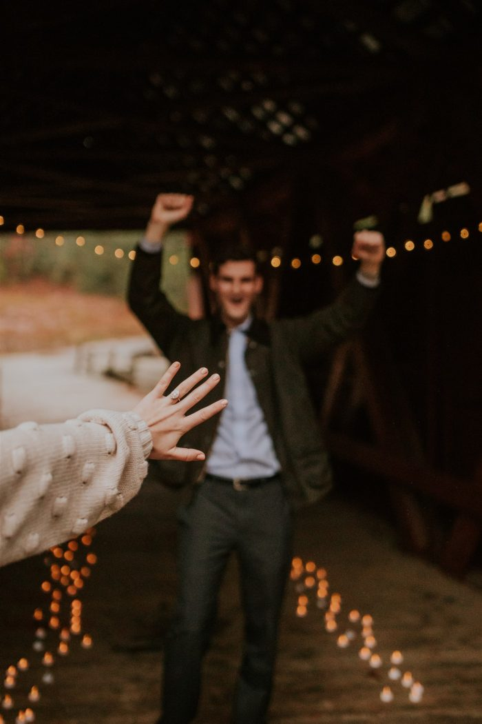 Shian's Proposal in Campbell's Covered Bridge in Inman, SC