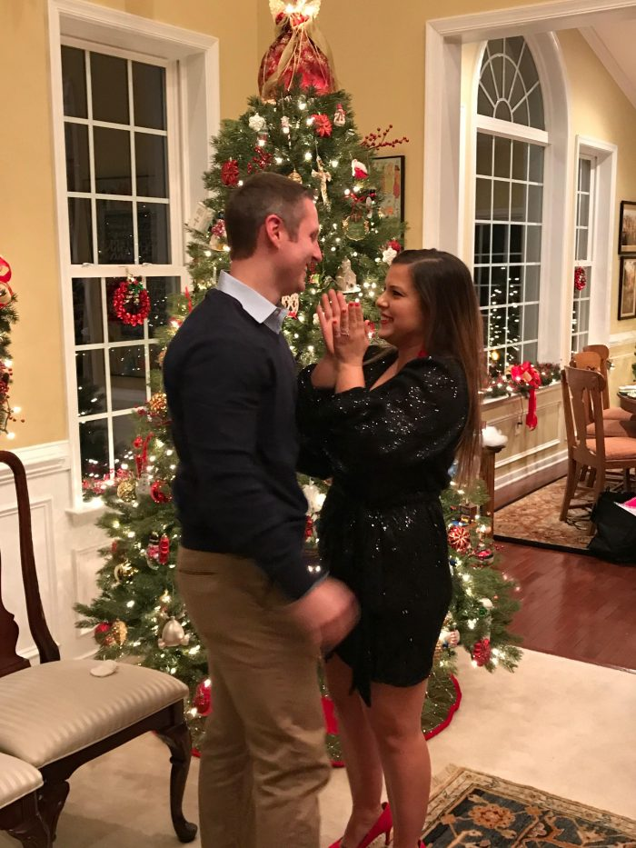 Marriage Proposal Ideas in Family Christmas party