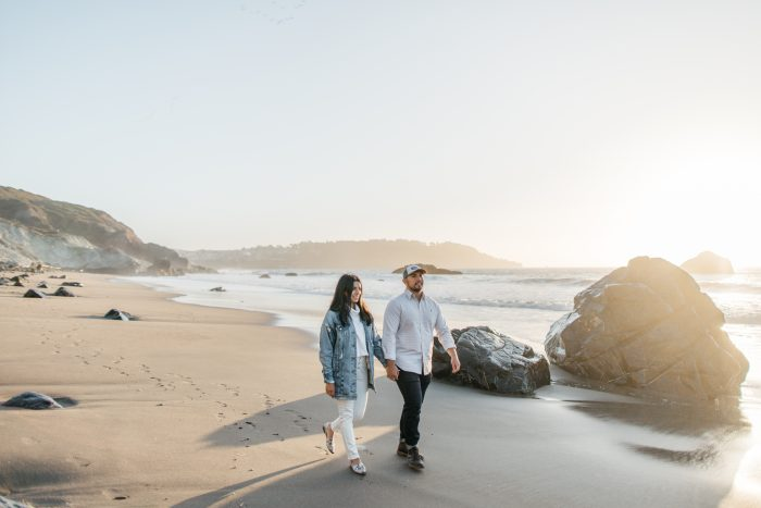 Engagement Proposal Ideas in Marshall's Beach, San Francisco, California