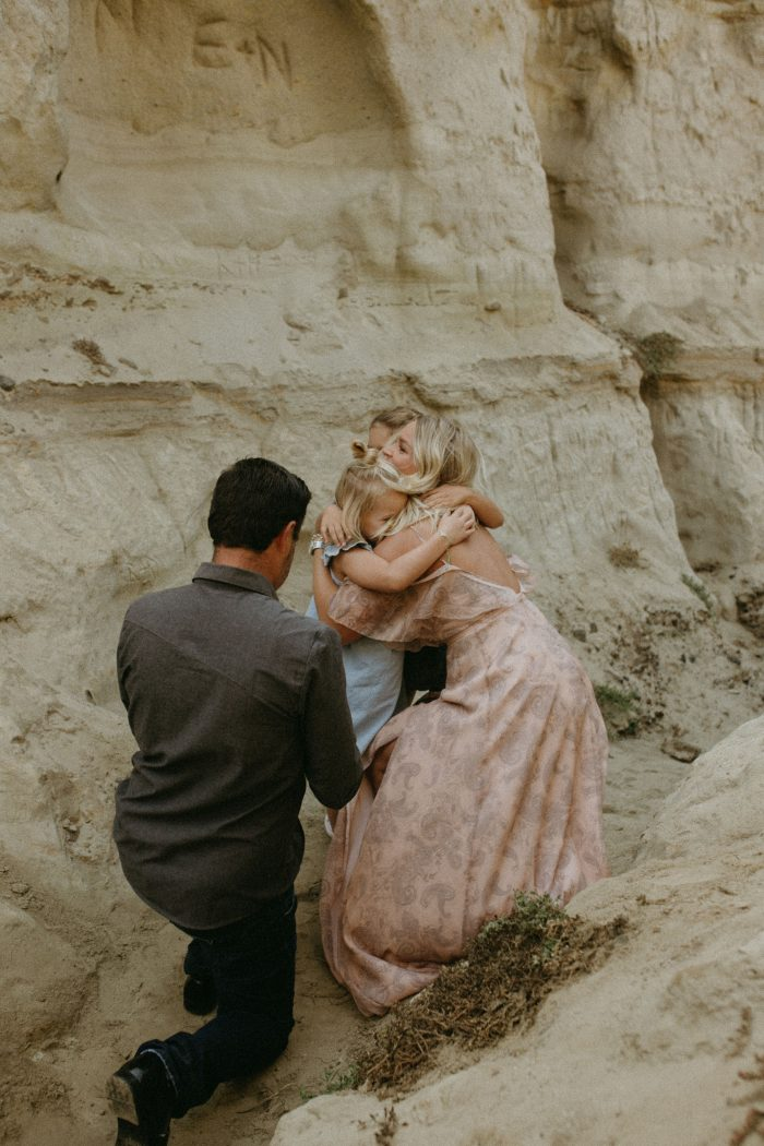 Wedding Proposal Ideas in San Clemente Beach, but back in the rock caves