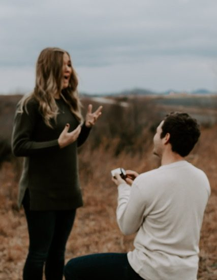 Haley and Jake's Engagement in During our baby announcement pictures