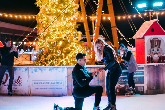 Engagement Proposal Ideas in Folsom Ca ice skating rink
