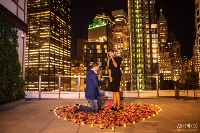 Vishnell's Proposal in NYC Rooftop