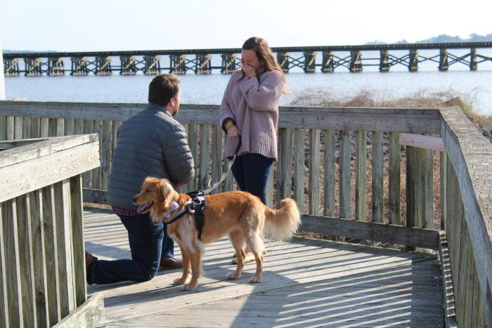 Samantha and Kyle's Engagement in Washington, North Carolina
