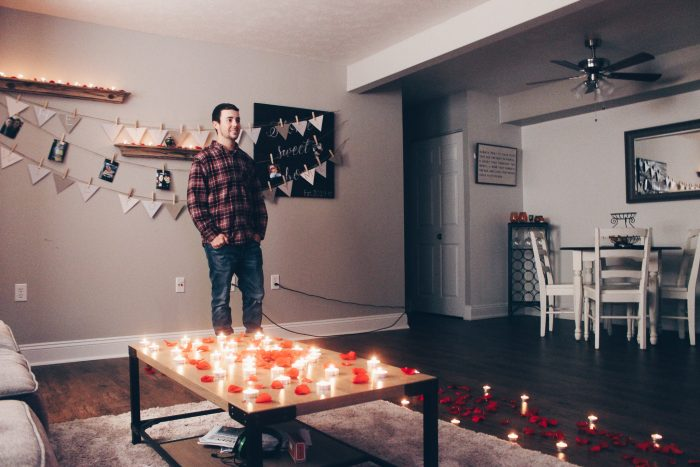Marriage Proposal Ideas in In our living room