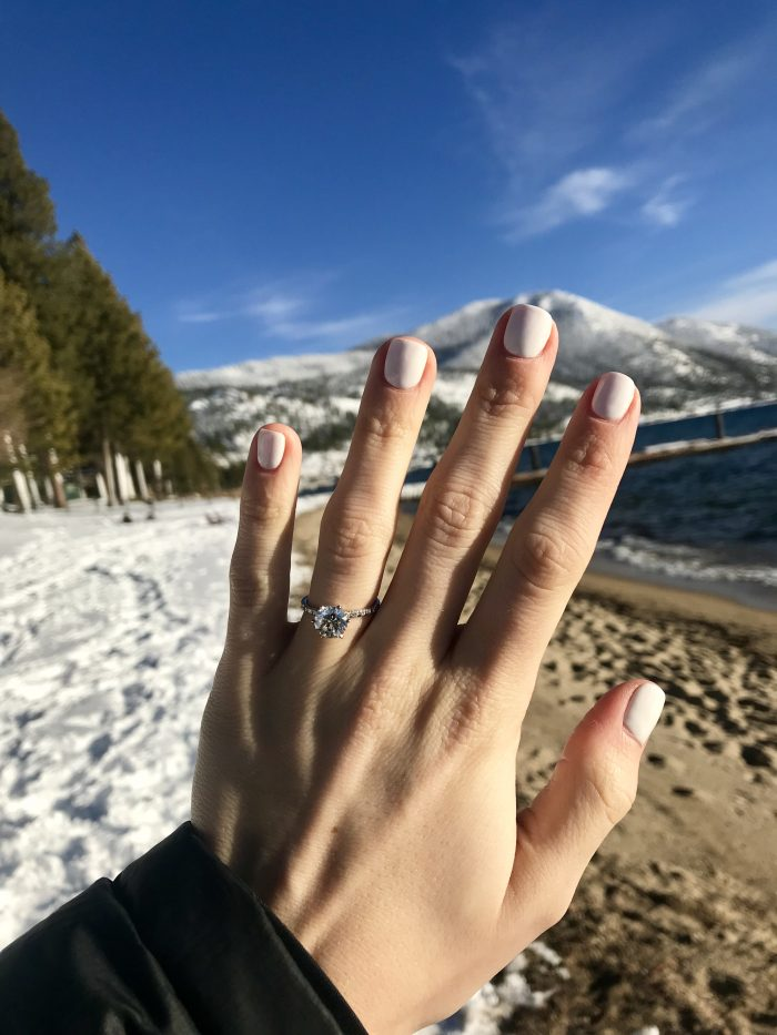Alisha and Donovan's Engagement in Lake Tahoe