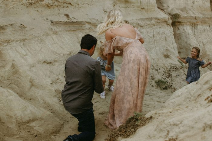 Where to Propose in San Clemente Beach, but back in the rock caves