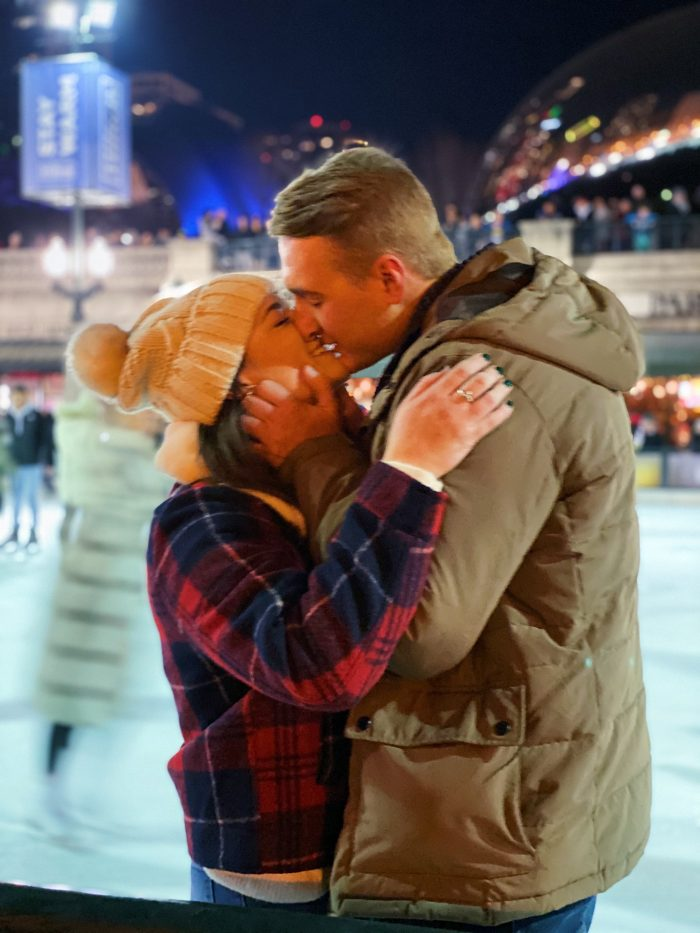 Engagement Proposal Ideas in Millennium Park Ice Rink