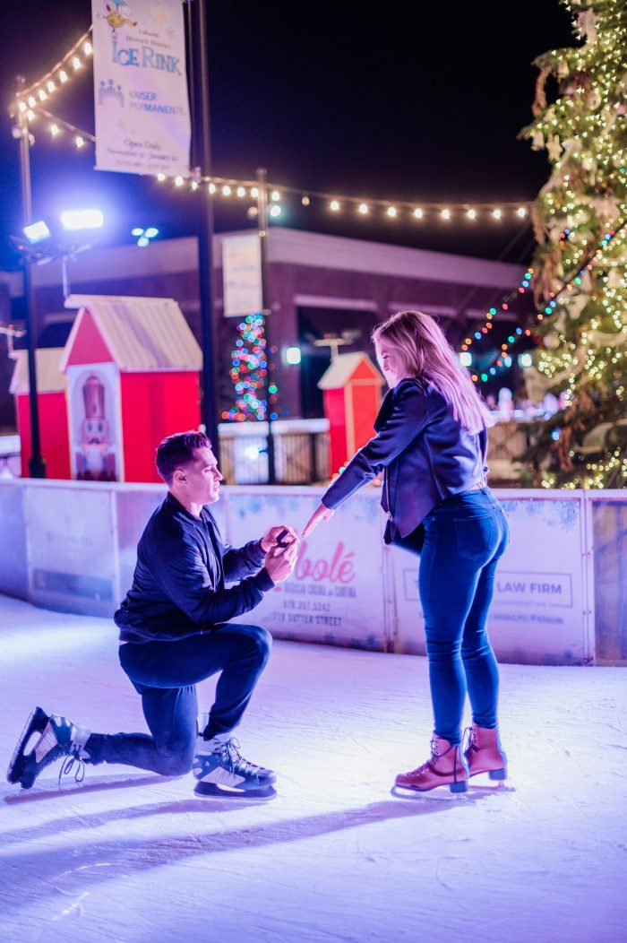 Marriage Proposal Ideas in Folsom Ca ice skating rink
