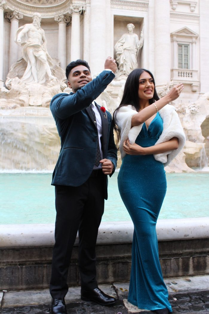 Engagement Proposal Ideas in Rome, Italy Trevi Fountain