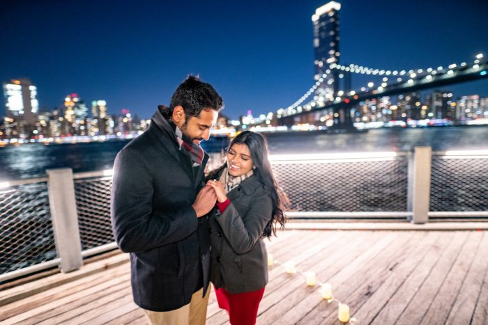 Silvina and Asvin's Engagement in Dumbo, Brooklyn