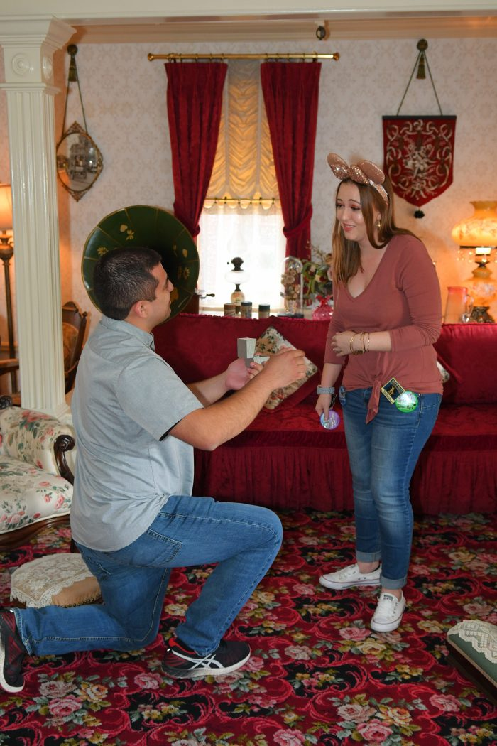 Engagement Proposal Ideas in Walt Disney's Apartment at Disneyland