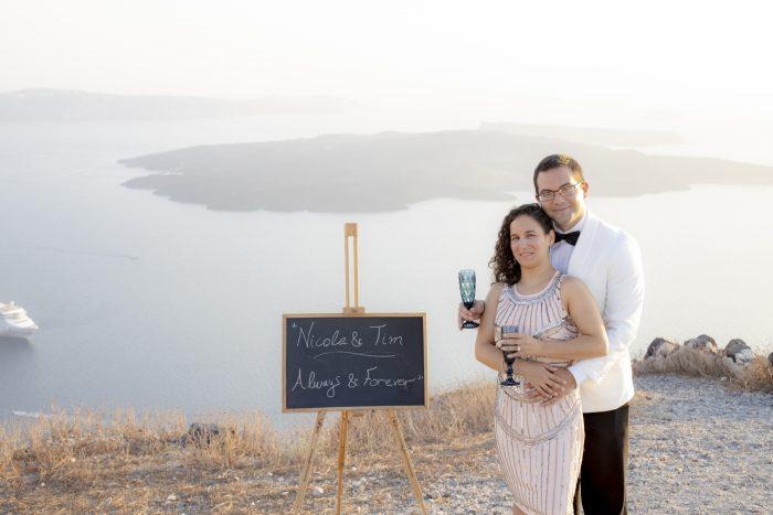 Where to Propose in Santorini, Greece
