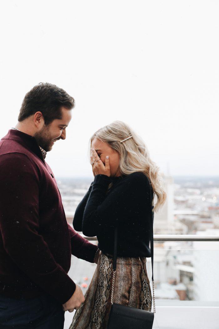 Wedding Proposal Ideas in The rooftop of the Elyton hotel in Birmingham, al