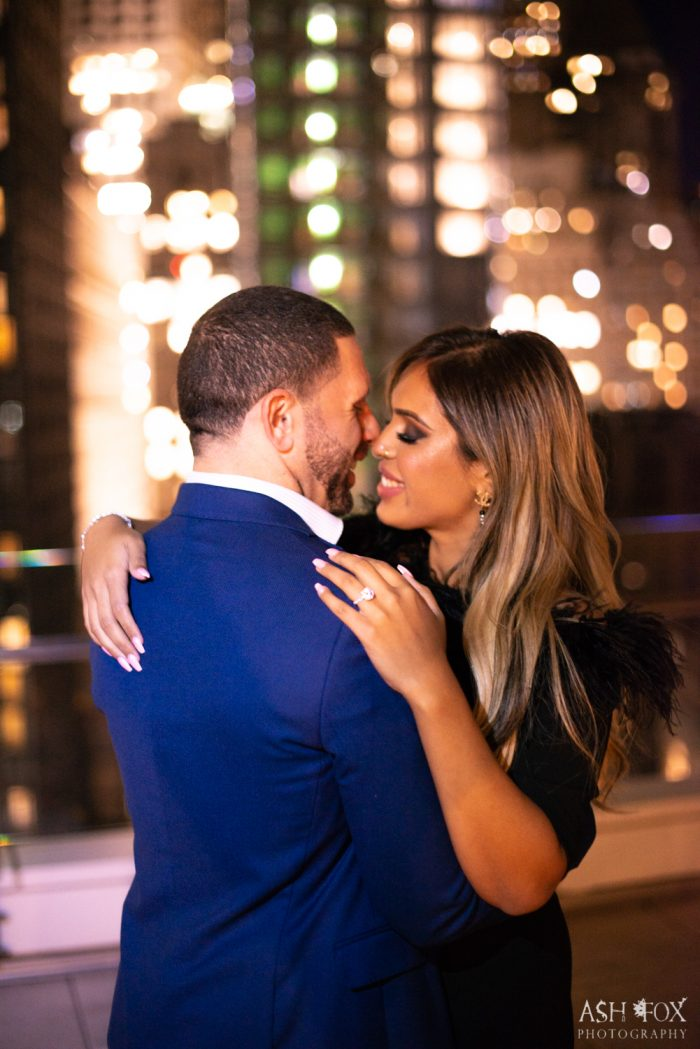 Vishnell and Benny's Engagement in NYC Rooftop