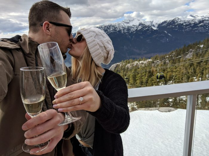 Taira and Travis's Engagement in Squamish - Sea to Sky Gondola