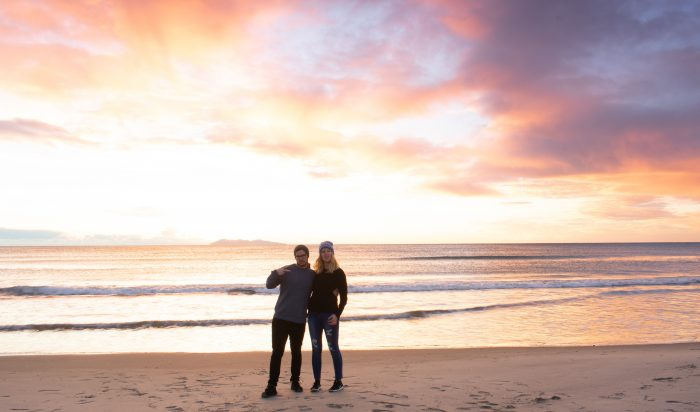 Nicky and Andy's Engagement in The proposal was at Waihi Beach in New Zealand