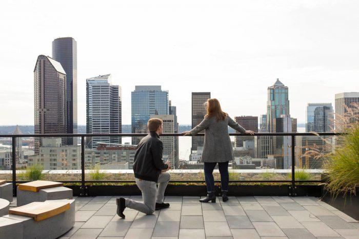 Cherise and Matthew's Engagement in Seattle, WA