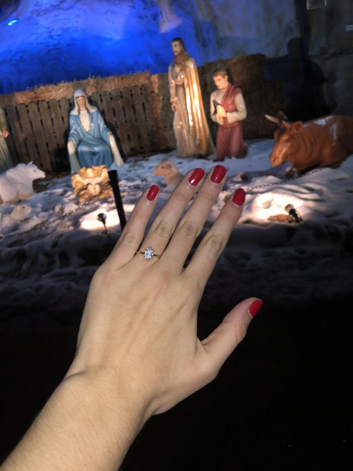 Paige's Proposal in Our ladies of the snow shrine
