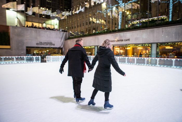 Engagement Proposal Ideas in Rockefeller Center Ice rink