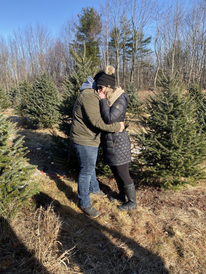 Marriage Proposal Ideas in New Durham, NH evergreen ridge tree farm