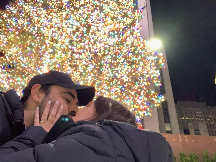 Engagement Proposal Ideas in Rockefeller ice rink
