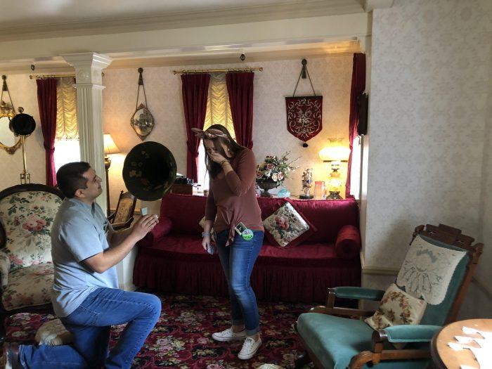 Marriage Proposal Ideas in Walt Disney's Apartment at Disneyland