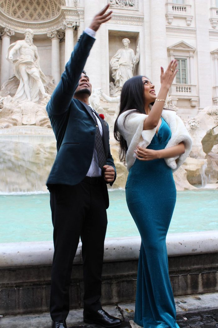 Britney's Proposal in Rome, Italy Trevi Fountain