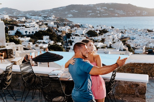Melynda and Madison's Engagement in Mykonos, Greece