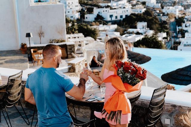 Engagement Proposal Ideas in Mykonos, Greece