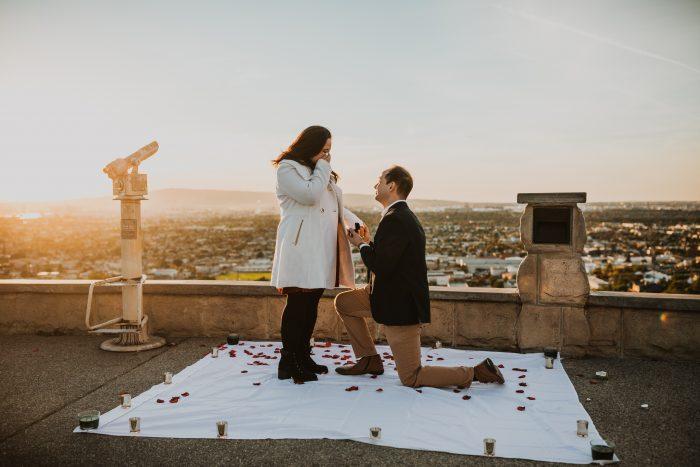 Engagement Proposal Ideas in Hilltop Park, Signal Hill