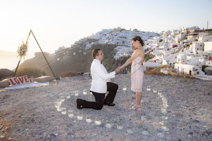 Nicole's Proposal in Santorini, Greece