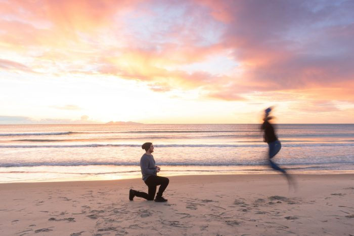 Where to Propose in The proposal was at Waihi Beach in New Zealand
