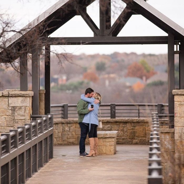 Shelby and Kyle's Engagement in Arbor Hills Nature Preserve in Plano TX