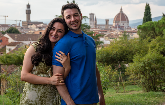 Christina and Eric's Engagement in Florence, Italy