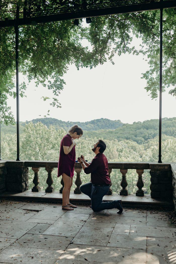 Engagement Proposal Ideas in Cheekwood Botanical Gardens in Nashville TN