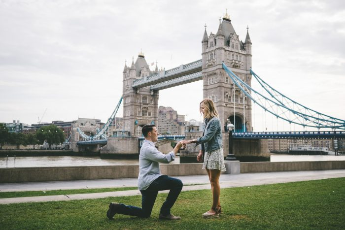 Madison and Anthony's Engagement in The Tower Bridge, London England