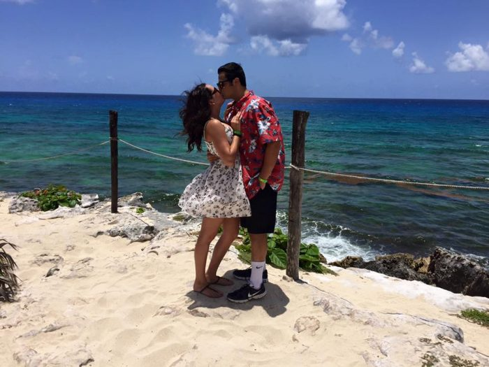 Samantha's Proposal in On an airplane flight to Cancun