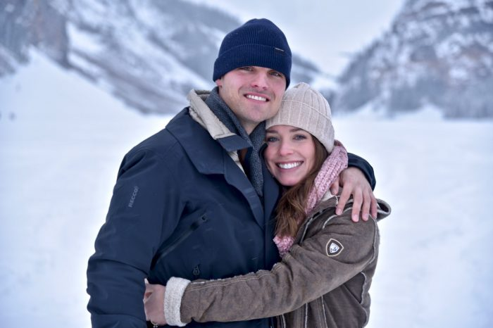 Allie and William's Engagement in Lake Louise, Alberta, Canada