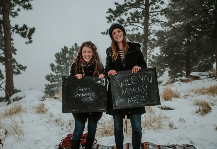 Engagement Proposal Ideas in In the mountains in Boulder, Colorado